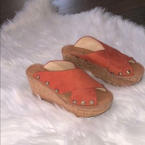 Chinese Laundry studded wedges. Size 6 1/2.